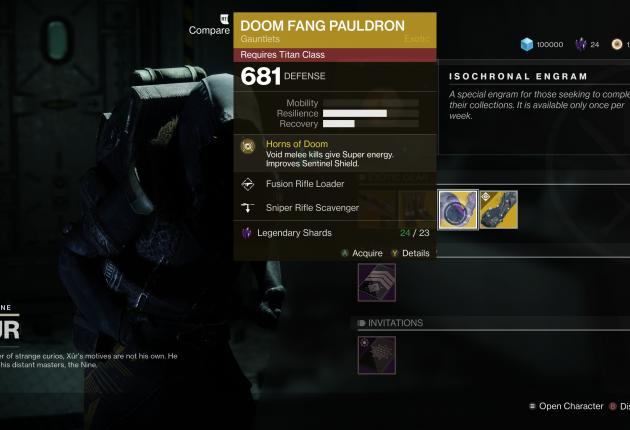 Doom Fang Pauldron for Titans