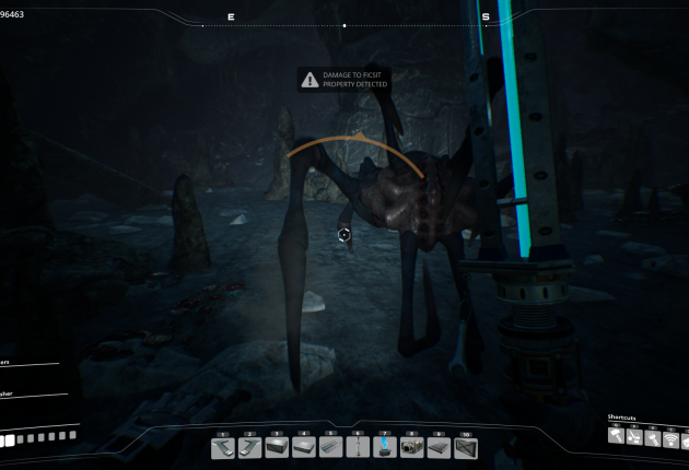 Here's one of the strange space spiders I encountered.
