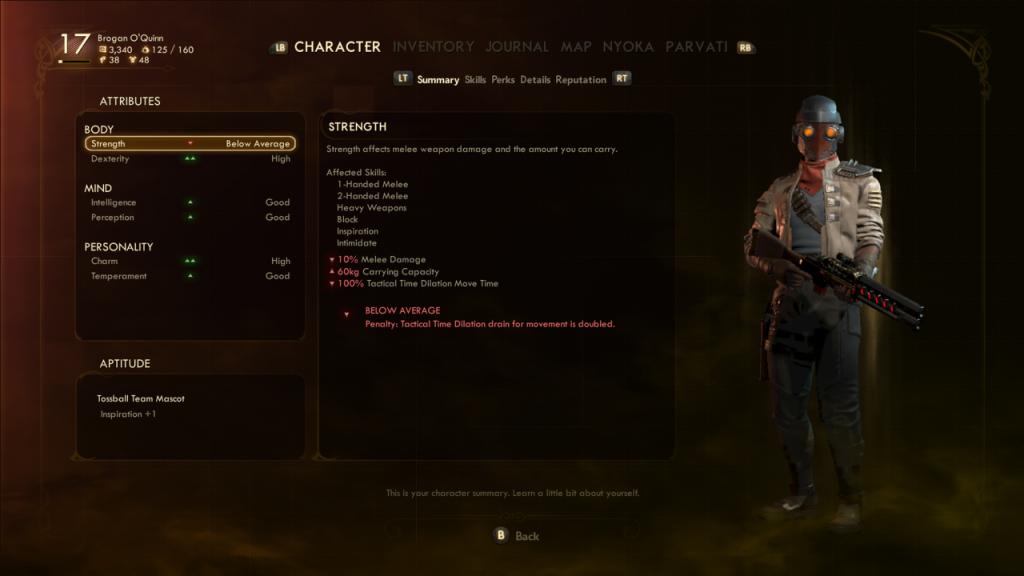 Brogan O'Quinn's character page.