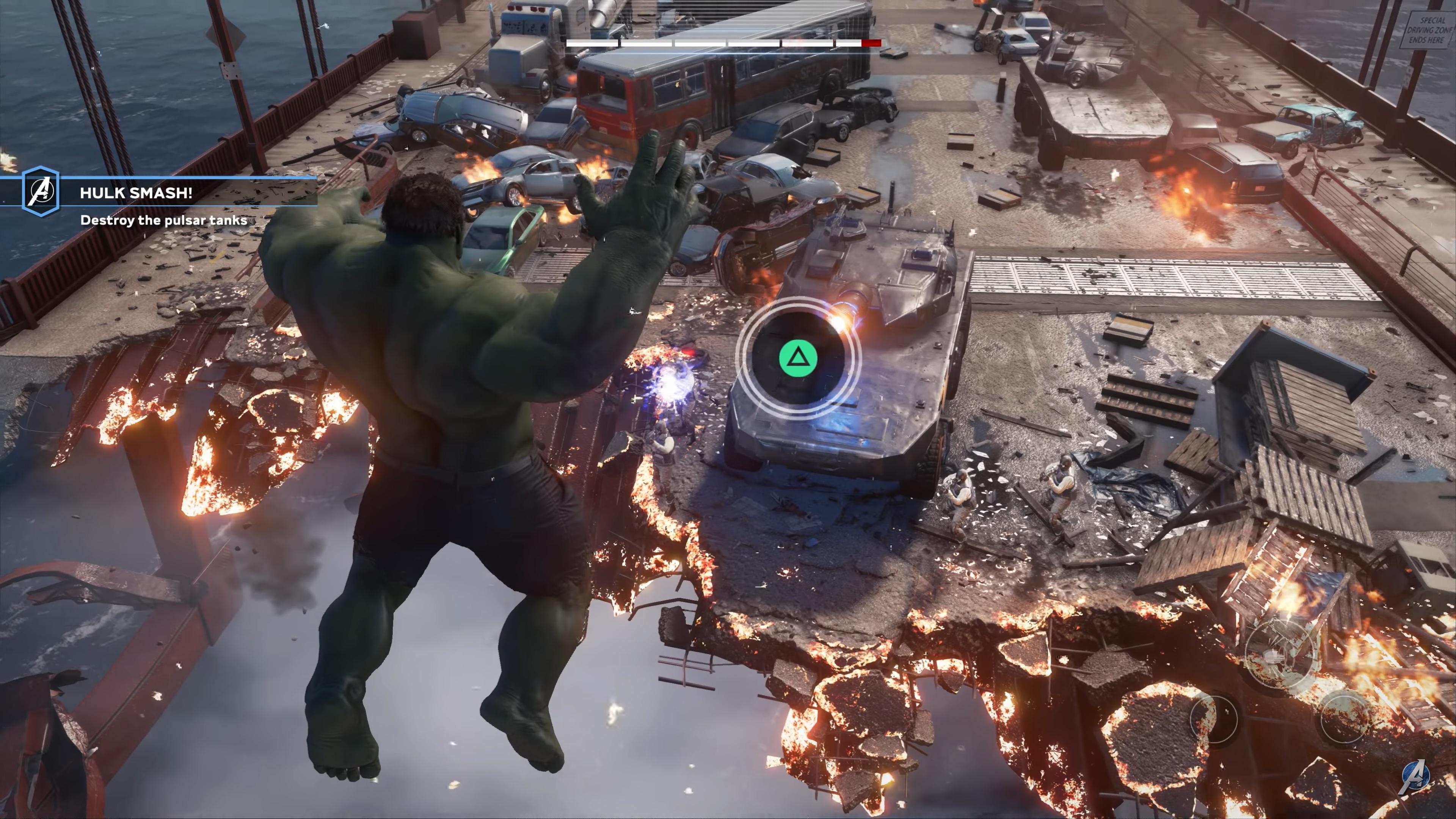 Marvel Avengers Hulk QTE