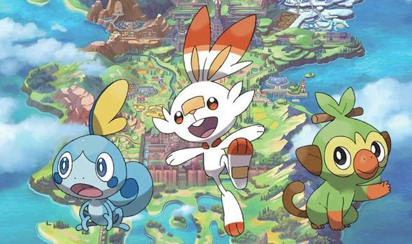Pokemon: Sword and Shield starters, Grookey, Scorbunny, and Sobble