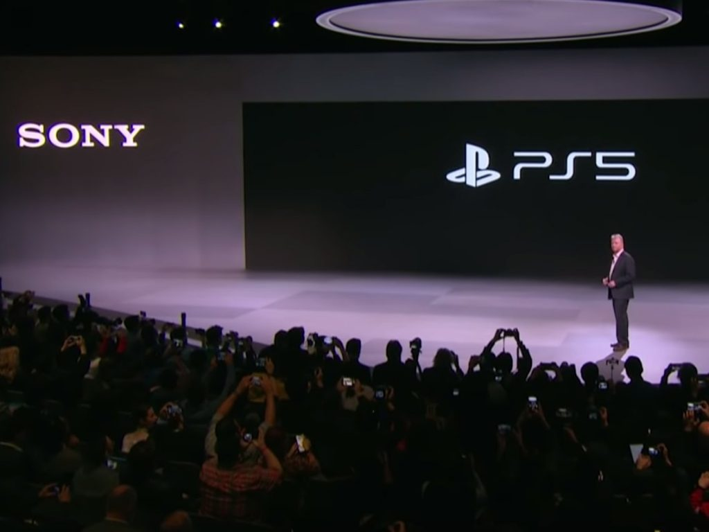 Sony Interactive Entertainment CEO Jim Ryan unveils PS5 Logo at CES 2020
