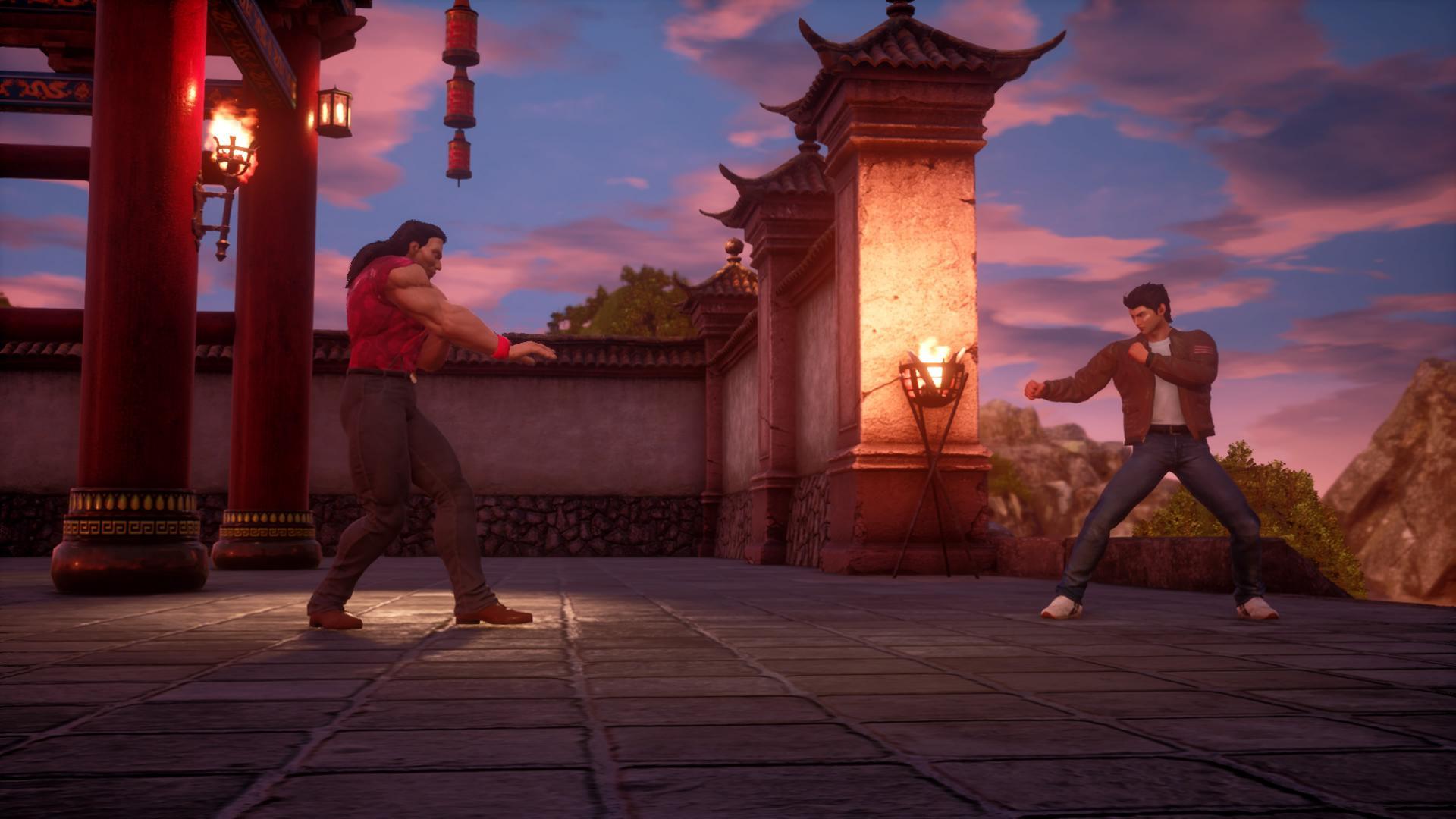 Shenmue fight scene