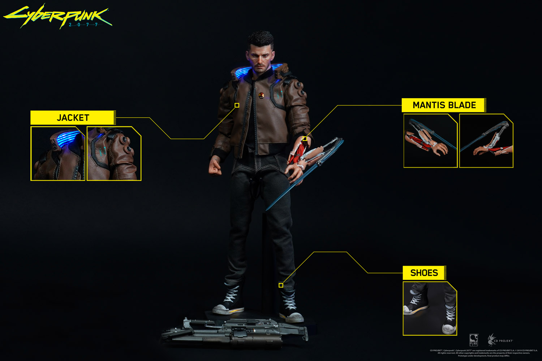 Cyberpunk 2077 Statue V-Boy-details