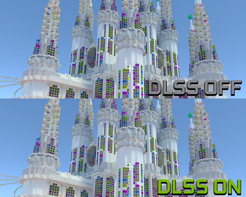 Minecraft DLSS 2.0