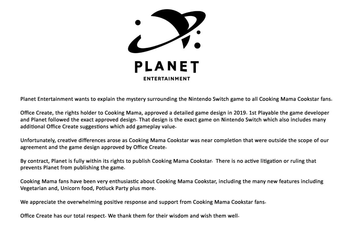 Planet Statement