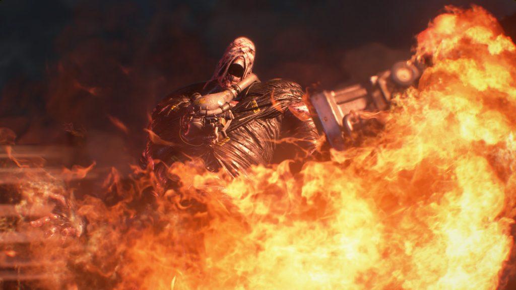 Resident Evil 3 Nemesis Flames