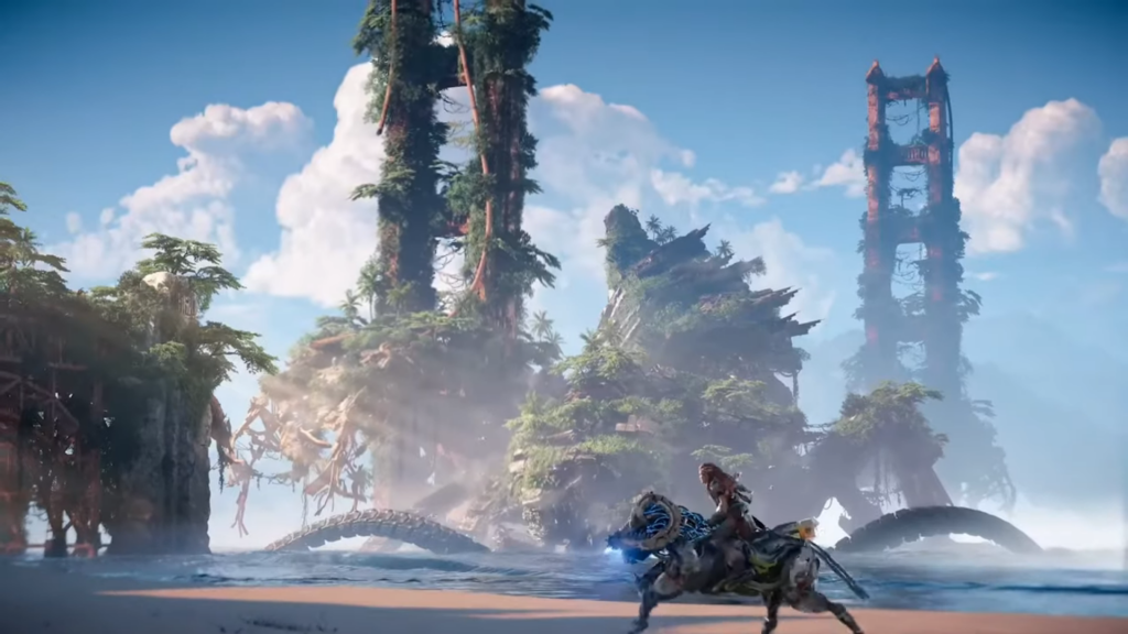 Horizon Forbidden West was one of the featured games at Sony's PS5 event.