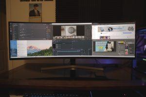 samsung crg9 multitask