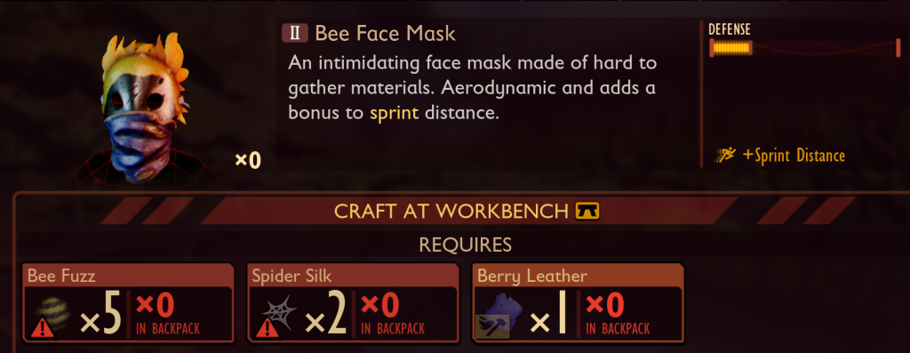 Grounded bee mask