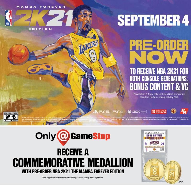 Kobe NBA 2K21 Pre-Orders