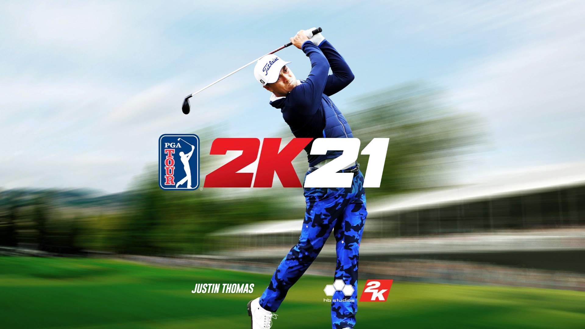 PGA Tour 2K21 title screen
