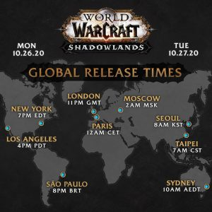 world of warcraft shadowlands launch