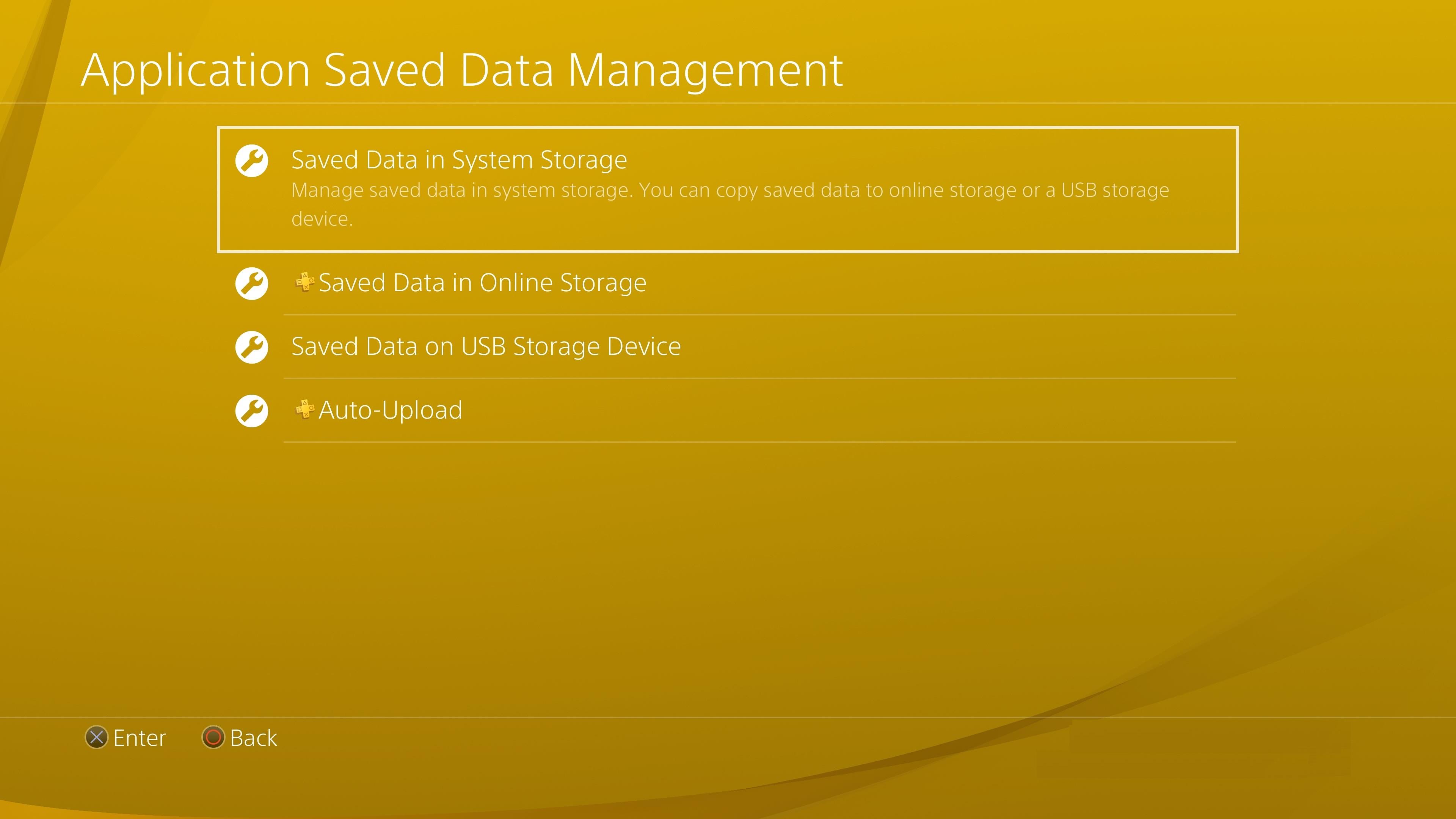 Backup PS4 Data