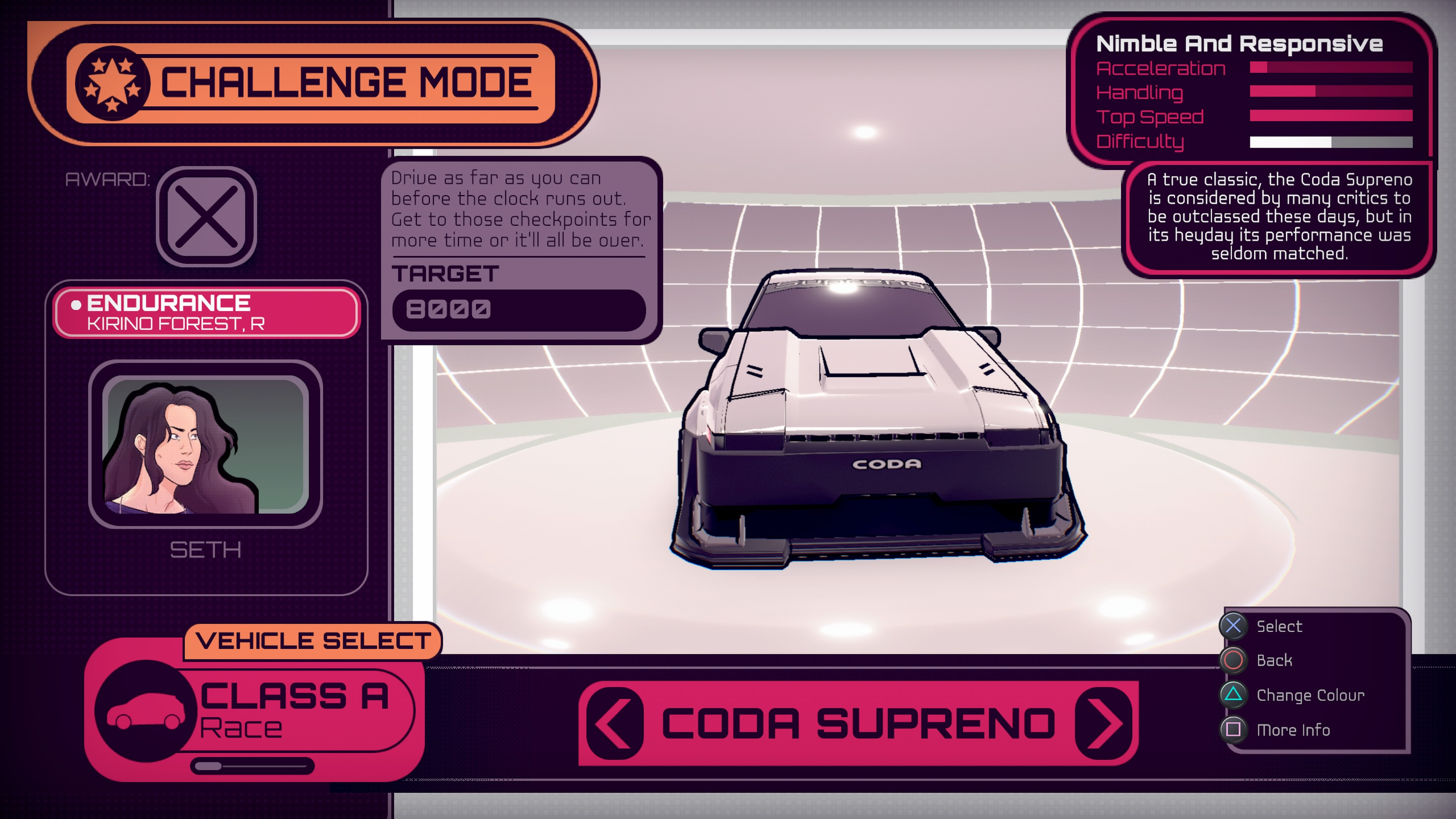 Inertial Drift Car Menu