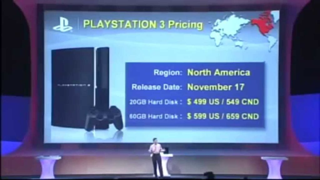 PS3 Price announcement