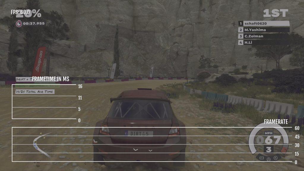 Dirt 5 XSX Career Frame Rate Mode