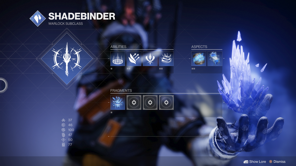 Stasis does bring nice customization options future classes could use.