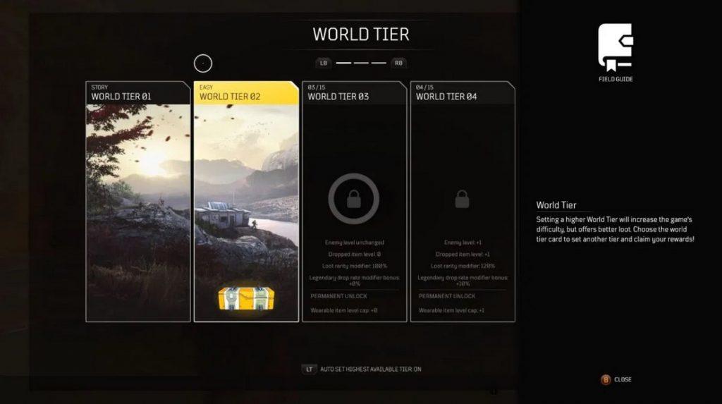 Outriders tier rewards