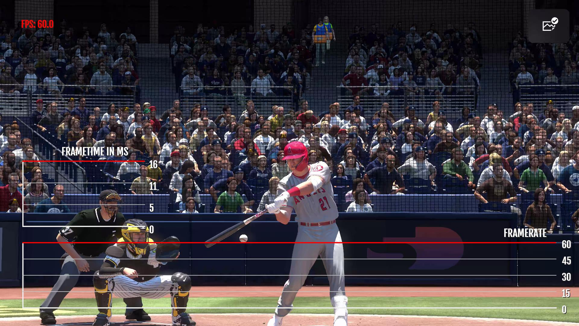 MLB The Show 21 Frame Count PS5