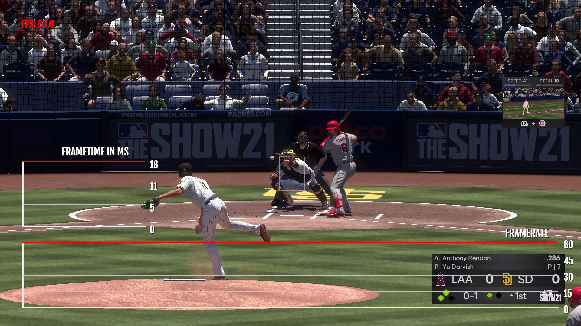 PS5 MLB 21 Frame count