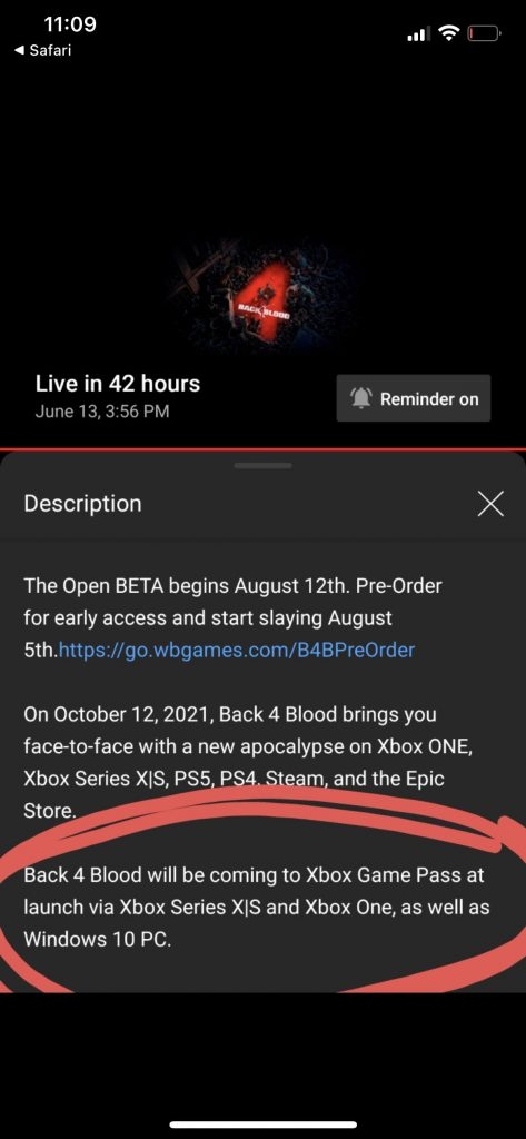 Back 4 Blood Game Pass Leak