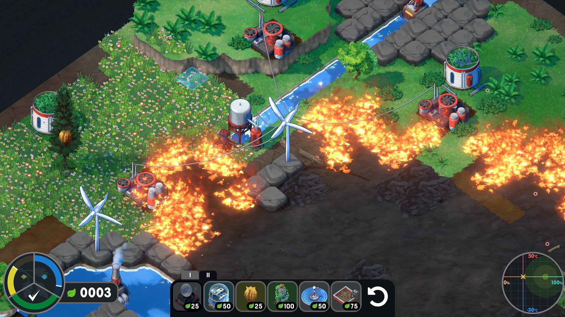 Terra Nil Fire Screen
