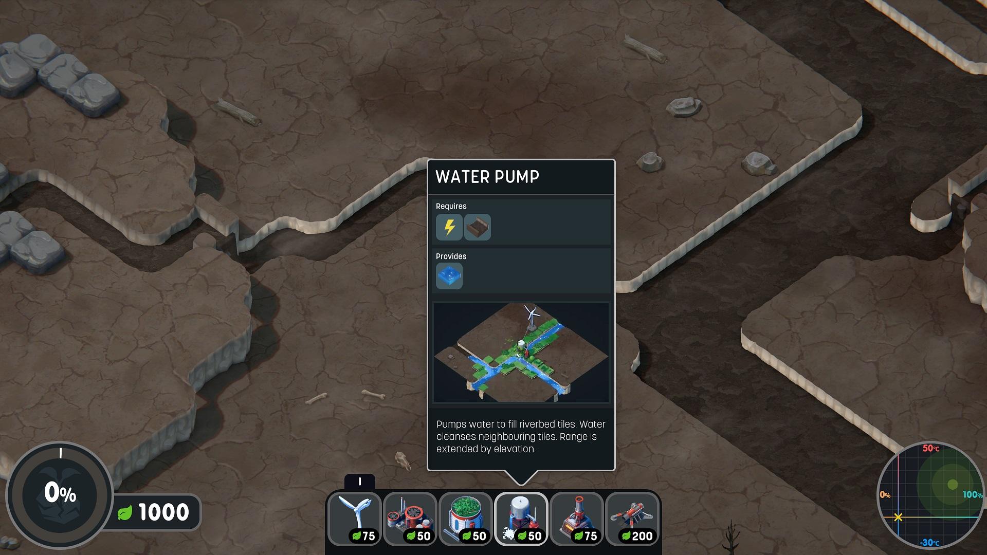 Terra Nil earth baseline screen shot