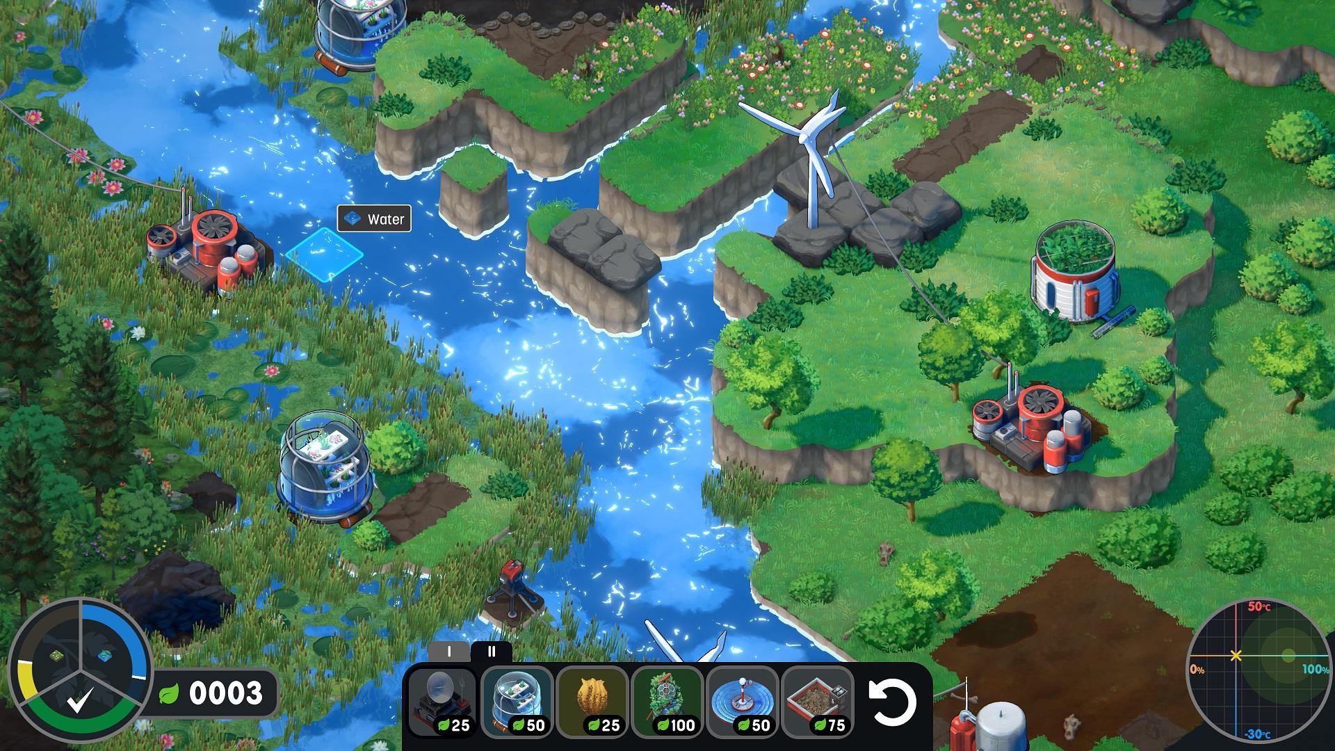 Terra Nil water screen shot