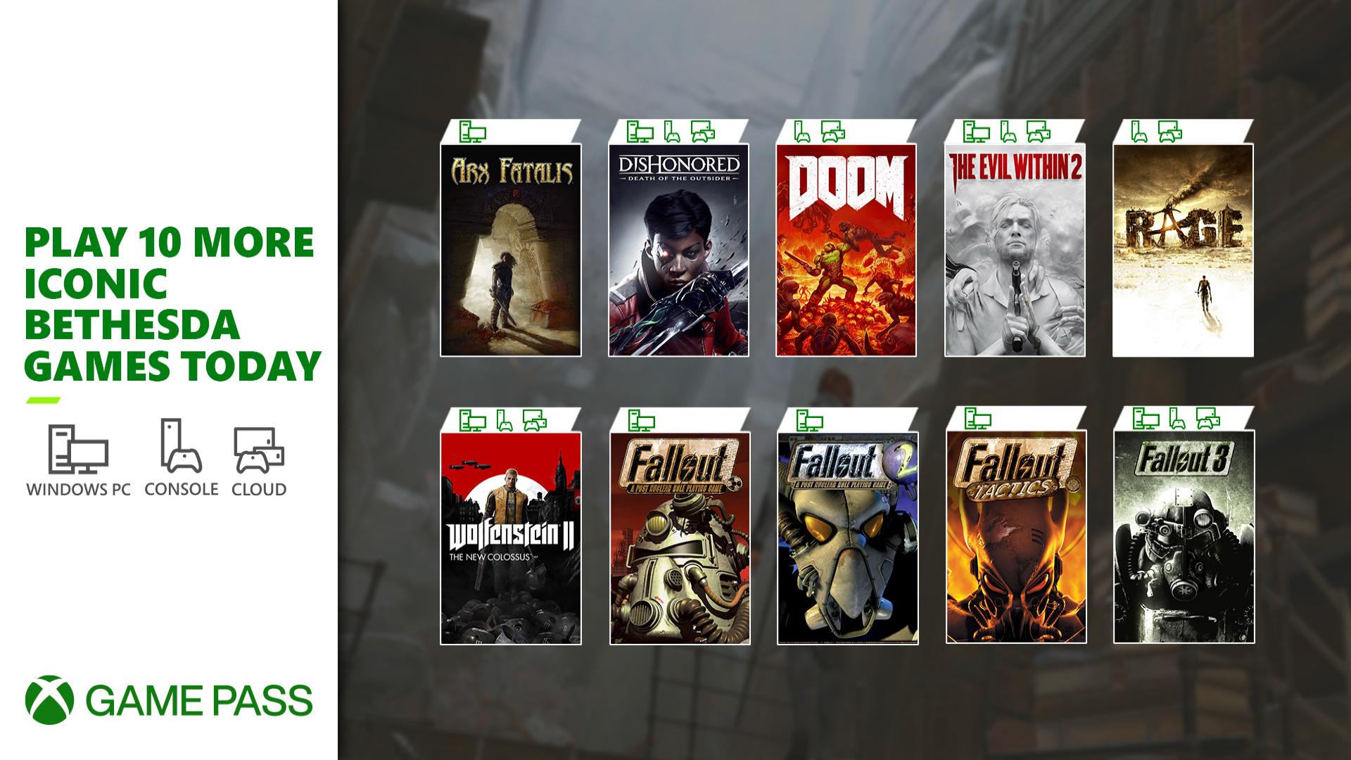 Xbox & Bethesda Showcase E3 2021 Xbox Game Pass