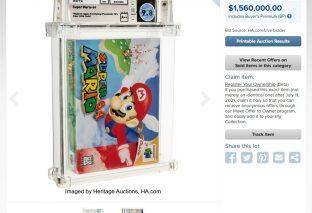 New World Record: Mario 64 Sells For $1.56 Million