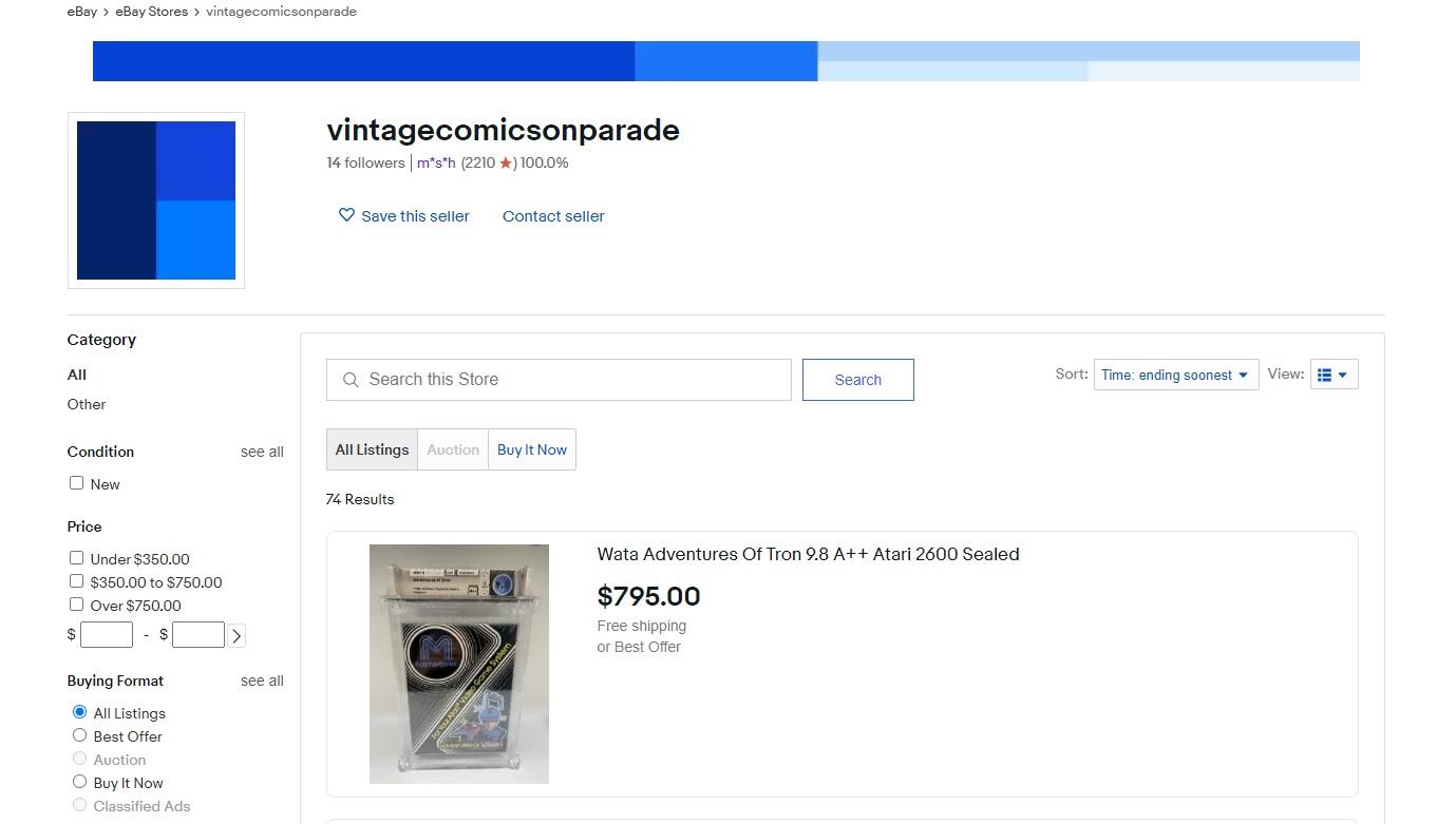 WATA Ebay Store