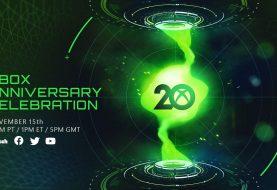 Xbox 20th Anniversary Stream Announced